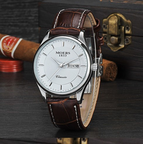 aliexpress com buy new brand classic leather strap watch aliexpress com buy new brand classic leather strap watch waterproof quartz watches men calendar business wristwatches shipping from reliable watch