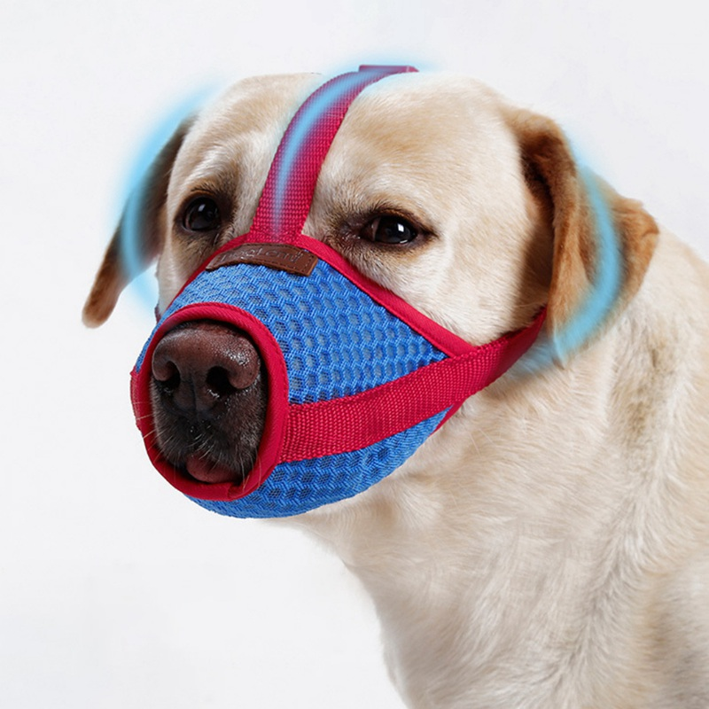 Anti Bark Bite Chew Breathable Dog Muzzles Training Products Pet Accessory Adjustable Mesh Mouth Muzzle For Small&Large Dog 1PC