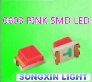 Image 2 - XIASONGXIN ışık 4000 adet SMD/SMT süper parlak yüzey montajı 0603 1608 ışık yayan diyot LED diyot LED 0603 pembe SMD LED