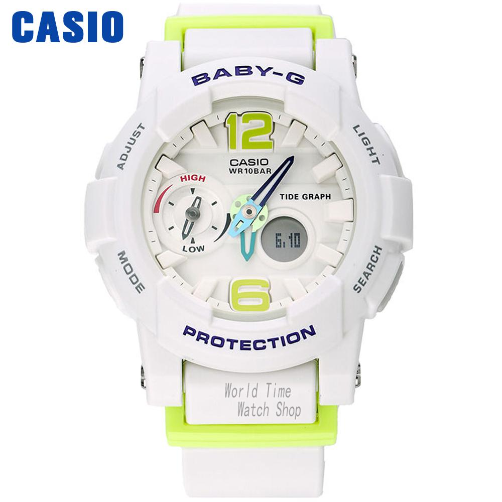 купить Casio watch tide three-dimensional electronic sports female watch BGA-180-1B BGA-180-2B BGA1807B2 недорого
