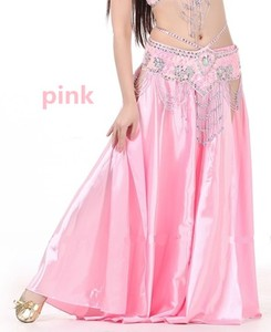 Image 3 - NEW Sexy Belly Dance Costume Saint Skirt 2 Side Slits Skirt Dress Double Split Skirt 14 Colors (No Belt)