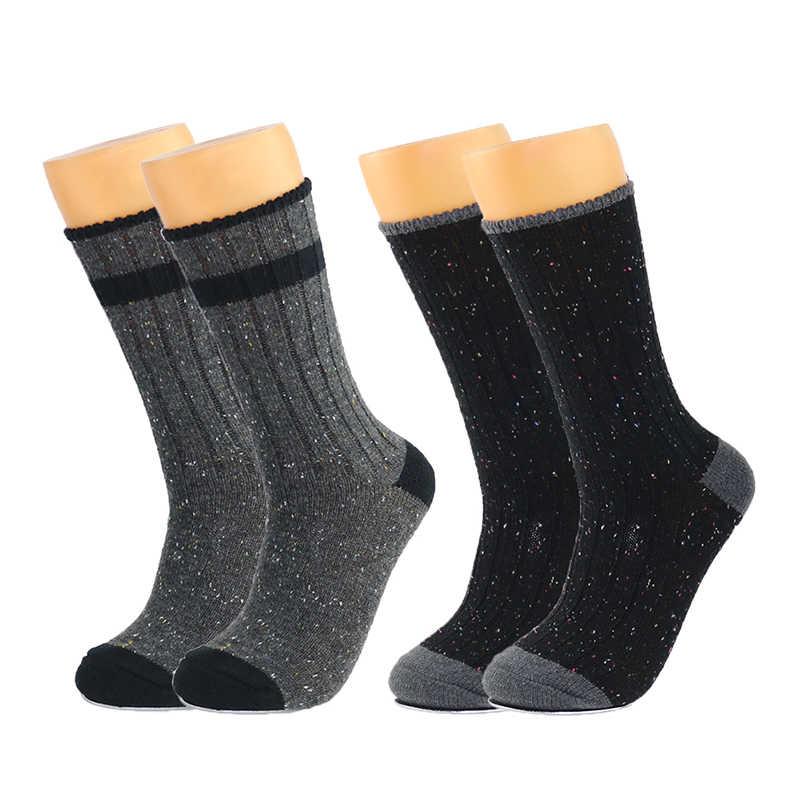 ผ้าขนสัตว์ Merino ถุงเท้าผู้หญิงแฟชั่นสี Point ยี่ห้อถุงน่องการบีบอัด Coolmax ฤดูหนาวหนา X65 สุภาพสตรีสุภาพสตรี Boot ถุงเท้า