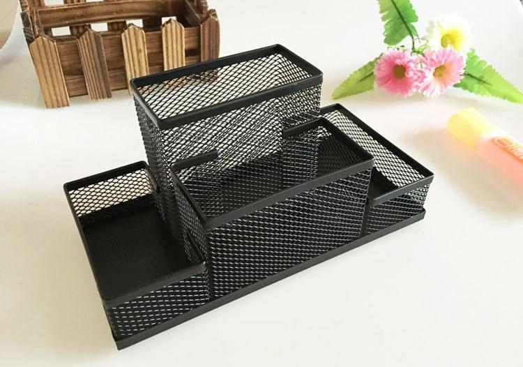 Mesh Cube Metal Stand Combination Holder Desk Desktop