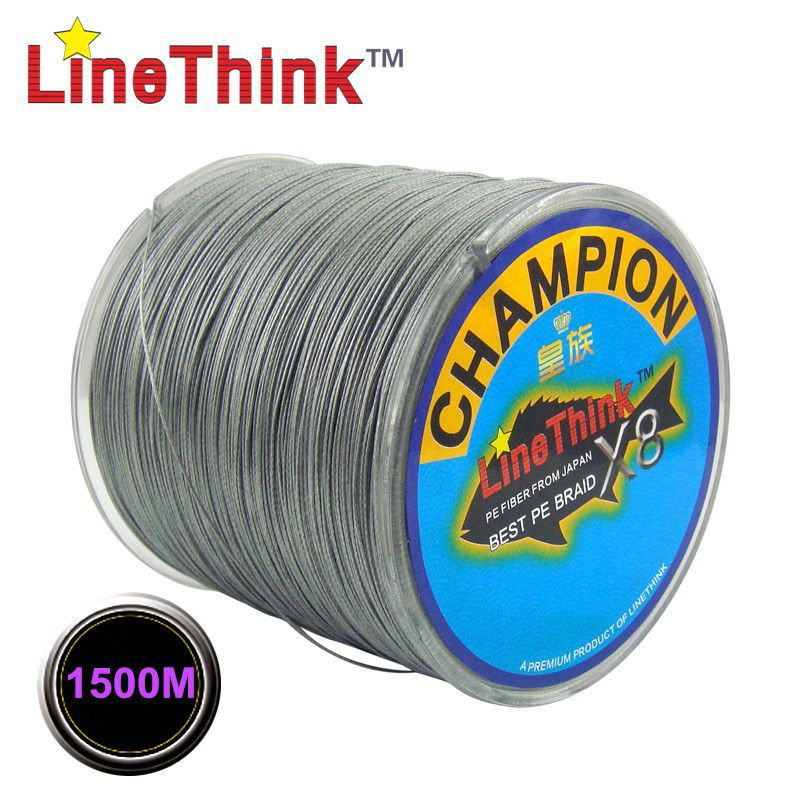 1500M GHAMPION LineThink Brand 8Strands/8Weave Best Quality Multifilament PE Braided Fishing Line Fishing Braid  Free Shipping