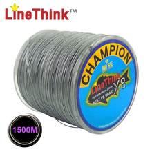 Бренд LineThink GHAMPION 1500М 8пряди/8Weave лучшее качество Мультифиламент PE плетеная леска Рыбалка Кос Бесплатная доставка