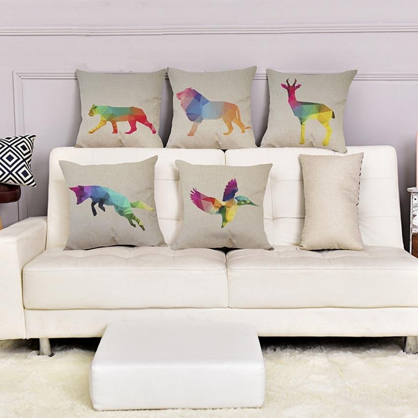 Cushion Covers Polar Bear Penguin Wolf Ocean Linen Home Decorative Living Room