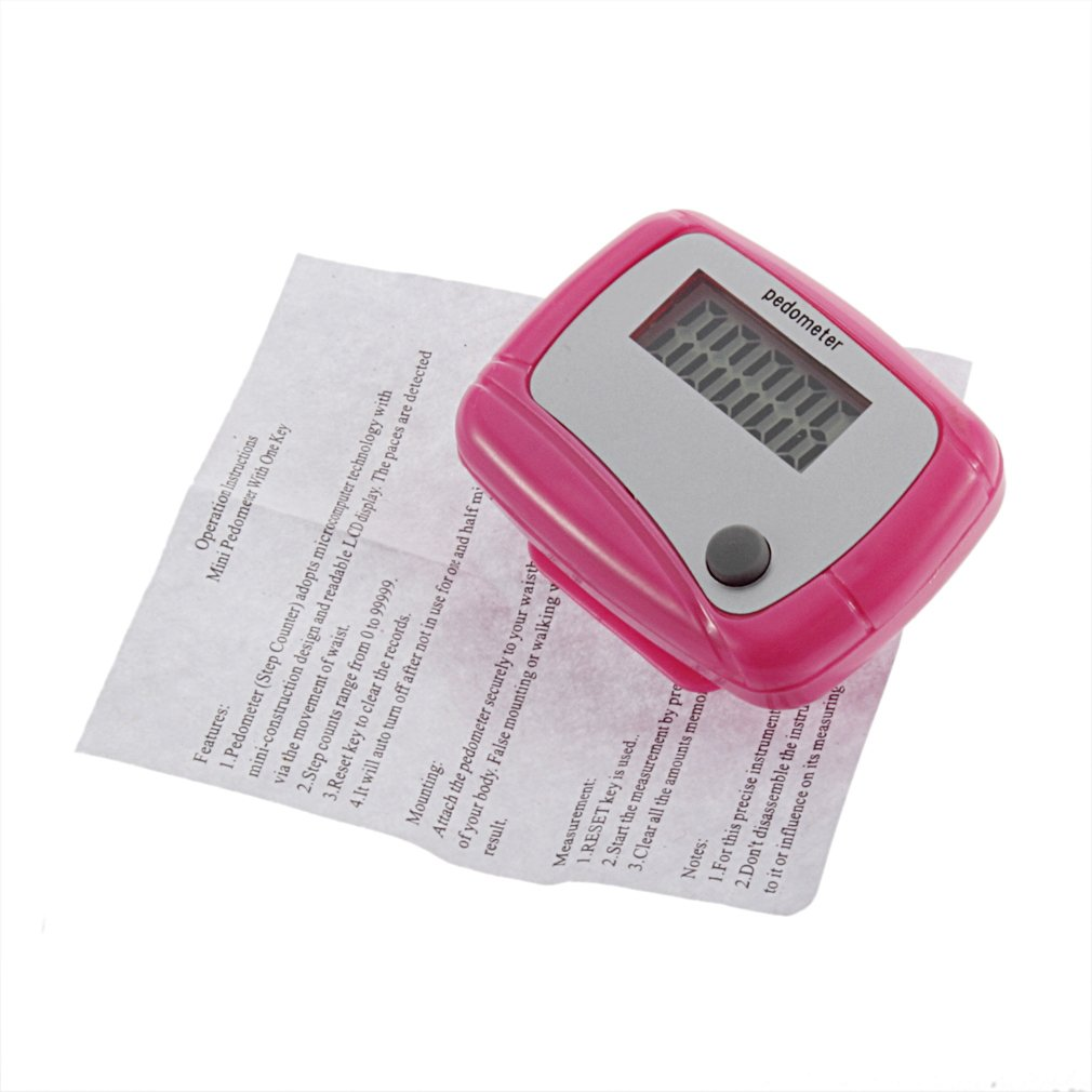 Wholesale 5* New Electronic Digital LCD Step Run Pedometer Walking Distance Calorie Counter