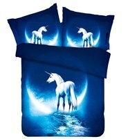 Звезда Луна лошадь постельного белья Калифорния король, королева размер полный двойной приспособленный лист одеяло пуховое одеяло покрыва