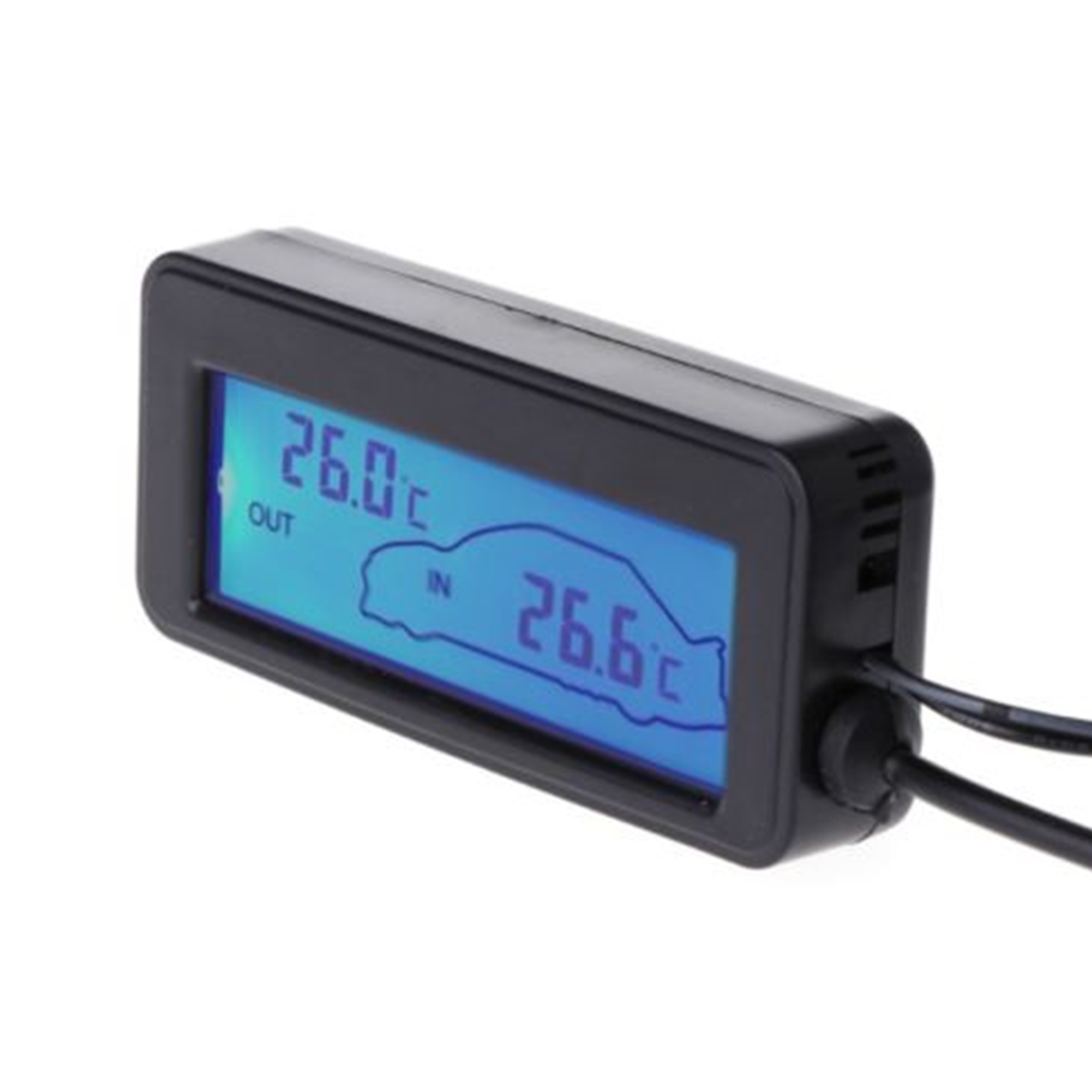 1PC Mini LCD Display Digital Thermometer Car Inter/Exter Thermometer Embedded Electronic Digital Thermometer 35