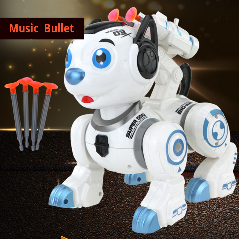Electronic Toys Music Robot Dog Launch Bullet Walking Robot Toy Educational Toys For Children Musical Lol Electronic Pet