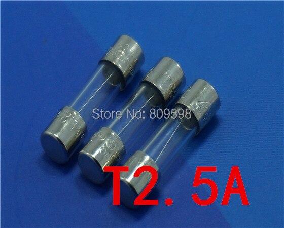 10 x 2.5Amp 250V Glass Tube Fuse Kit 5mm x 20mm Glass Fuses