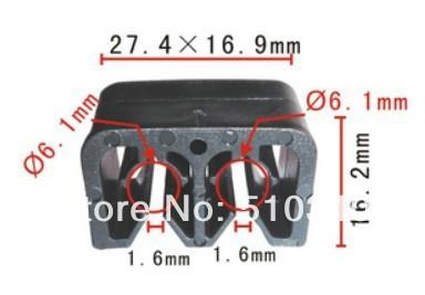 Frete grátis 100 pcs auto grampo terminal da bateria caso clipe de mangueira para Toyota Hiace