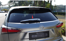 Lapetus Chrome Rear Window Wiper Protection Cover Trim Accessories Exterior Fit For LEXUS NX NX200T NX300H 2018 2019 / ABS