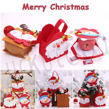 Merry Christmas Santa Snowman Elk Pant Treat Storage Bag Xmas For Candy  Stocking Filler Xmas Gift Decorations ef5940bf6436