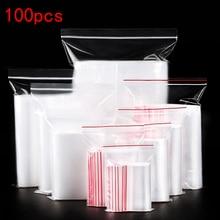 Мешок для обуви 100 шт./лот прозрачный пакет на молнии Многоразовые прозрачные украшения/Еда сумка для хранения на кухне сумка прозрачный ЗИП-пакет