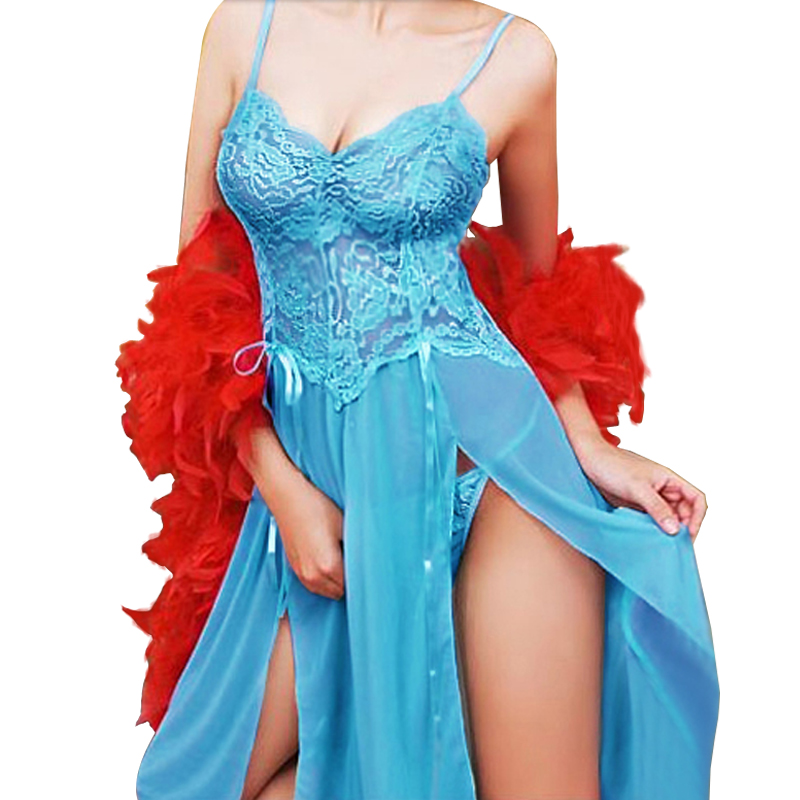 Women <font><b>Sexy</b></font> Erotic Sleep Dress <font><b>Sexy</b></font> Perspective Embroidery Nightgown Sling Lace Sleepwear <font><b>Sexy</b></font> Lingerie wear Plus Size 5XL <font><b>6XL</b></font> image