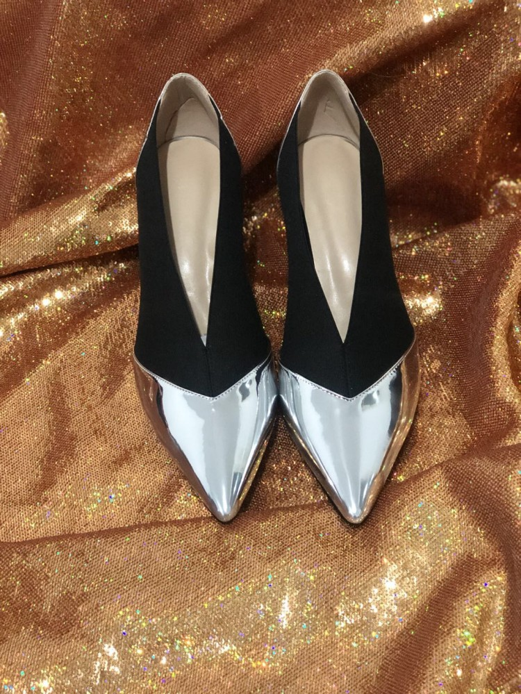 Designer New 2019 Fashion Week T Show Women Pumps Pointed Toe V Shallow Slip On Ladies Shoes High Heels Stilettos Party Zapatos - 5