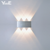 Home Fashion LED Wall Lamp 6W AC100 265V Modern Aluminum KTV Bar Corridor Decorate Colorful Lamps