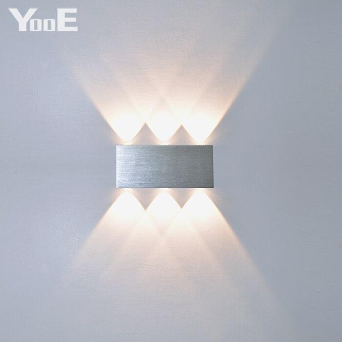 Yooe indoor 2 Вт 4 Вт 6 Вт 8 Вт LED Настенные светильники AC100V/220 В Алюминий украсить бра спальня светодиодный светильник настенный