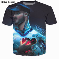 PLstar Cosmos 3 d t-shirt Donna Uomo Casual tshirt All Time Low shirt New York Anima in cima Alla Buona In Me tees iRobot t camicia