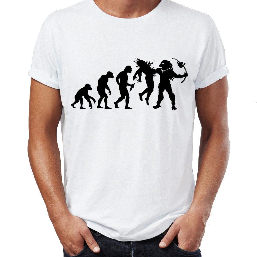 f5e29e1ea Men's T Shirt Evolution Dead End Funny Predator Artsy Awesome Artwork  Printed Tee