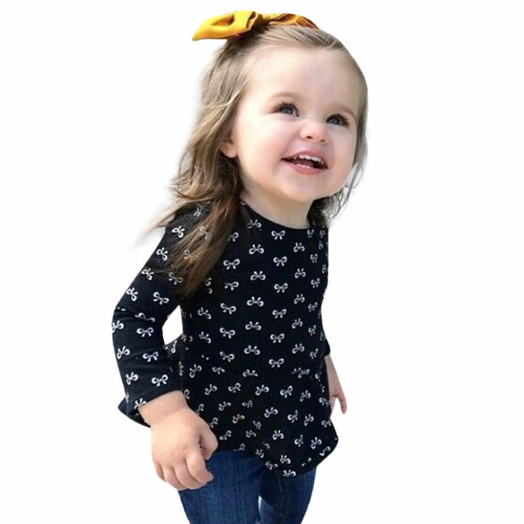 ARLONEET/2019 г. Новейшее милое платье для маленьких девочек футболка + джинсы Рваные штаны, комплект одежды Z0213
