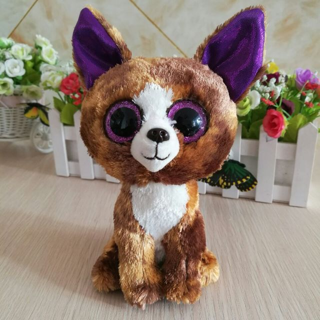 d5d06d8213e DEXTER - chihuahua brown DOG 15cm 6 inch Ty Beanie Boos Plush Toy Stuffed  Animal Kids Toy Christmas Gift
