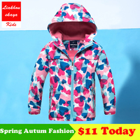 2017 New Children Autumn Winter Jacket For 4 13 Y Boys Girls Hoodies Waterproof Windproof Raincoat