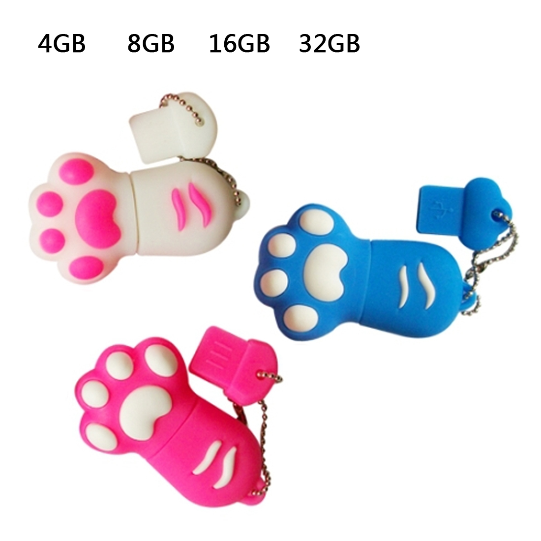 Etmakit Cartoon Cat Claw Usb flash drive 4gb/8gb/16gb/32gb cats claw usb flash drive usb, pendrive/car/gift/disk