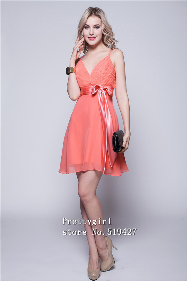 Coral Cocktail Dress - Ocodea.com
