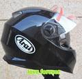 Motorcycle helmet full face motocross one double vistor clear and black lens arai R style fit all season