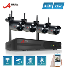 ANRAN P2P 4CH WIFI NVR 3 Array IR Outdoor Video 1.3MP 960P Wireless IP Camera CCTV Security System Hard Disk Optional