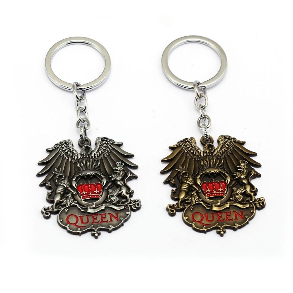 British Rock Band Queen Keychain Metal Key Chains Pendant Fashion Key Chain Chaveiro Key Ring Car Bag For Men Women
