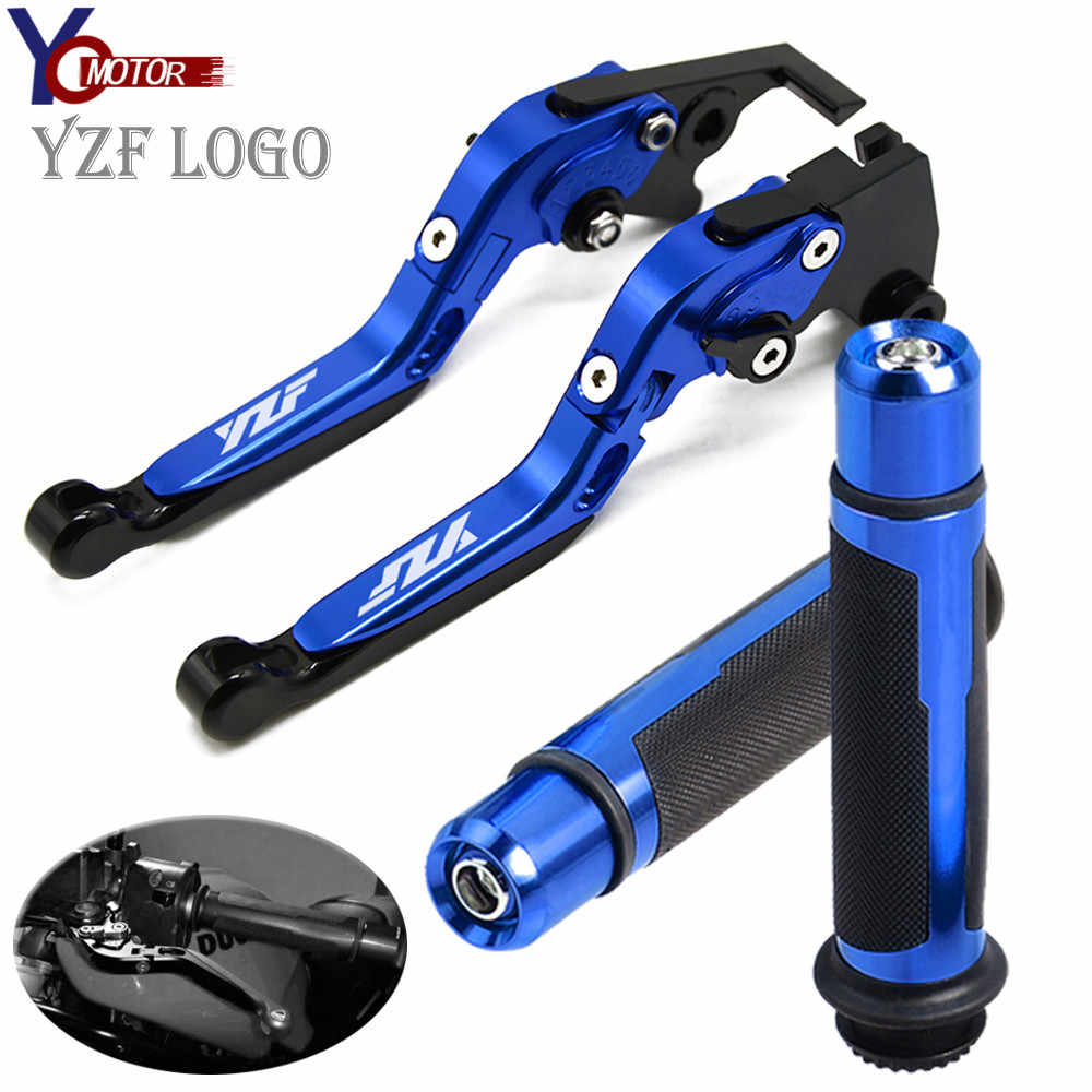Motorcycle Accessories Folding Brake Clutch Levers handle grips FOR YAMAHA YZF R1 1999-2003 YZF R6 1999-2004 YZF600R thundercat