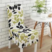 Flower Printing Removable Chair Cover Big Elastic Slipcover Kitchen Seat Case Stretch Chair Cover For Banquet Party Wedding Home