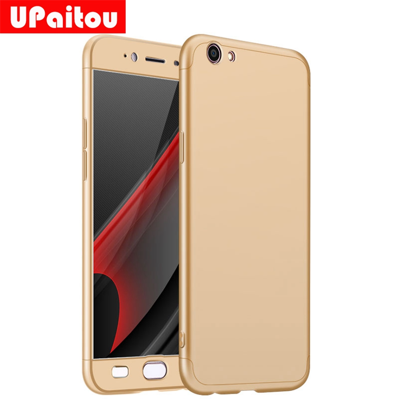 UPaitou 360 Degree Full Cover For OPPO R7S R9 R9S R11 Plus A57 A59 Case 3 in 1 Hard PC Coque Case For OPPO F1S F1 Plus Back Case