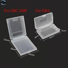 20 pçs limpar caixas de plástico para nintendo gbc gbp & para gameboy advance gba sp gbm gba jogos caixa de cartucho de cartão