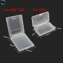 20pcs clear plastic cases for Nintendo GBC GBP & For gameboy Advance GBA SP GBM GBA Games Card Cartridge box