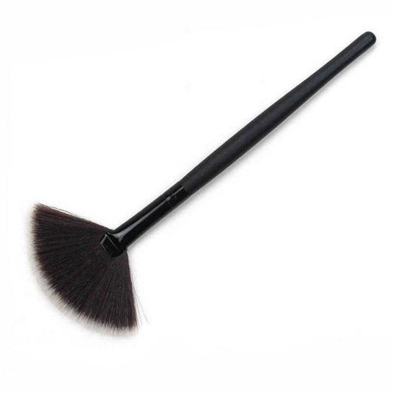 Gracefull леди 2 шт тонкий вентилятор Форма кисть для пудры concealor макияж ногтей Кисть для макияжа