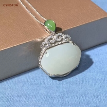 Certified Natural Chinese Hetian White Jade Nephrite Inlaid With 925 Sterling Silver Jade Pendant High Quality Wonderful Gifts астахов п сеть