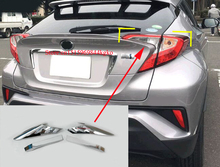 ABS Chromium Styling Rear Tail Light Lamp Eyebrows Cover Trim Sticker For Toyota C-HR CHR 2016 2017 Accessiores
