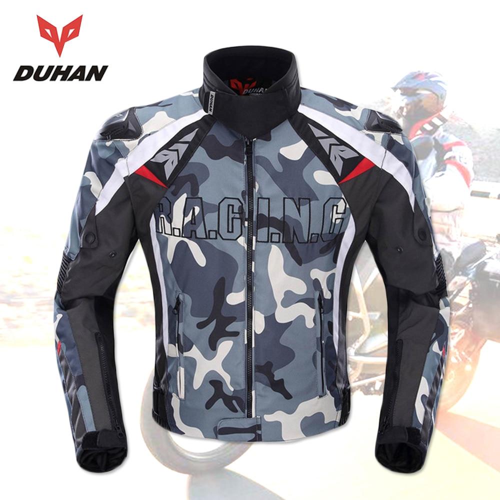 DUHAN chaqueta deportiva de camuflaje de los hombres chaqueta de la motocicleta de Oxford de Motocross chaqueta de carreras con 5 protectores de Moto guardias Moto chaqueta