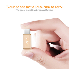 PZOZ Micro USB Adapter to 8 pin Type C OTG Charging Data for iPhone