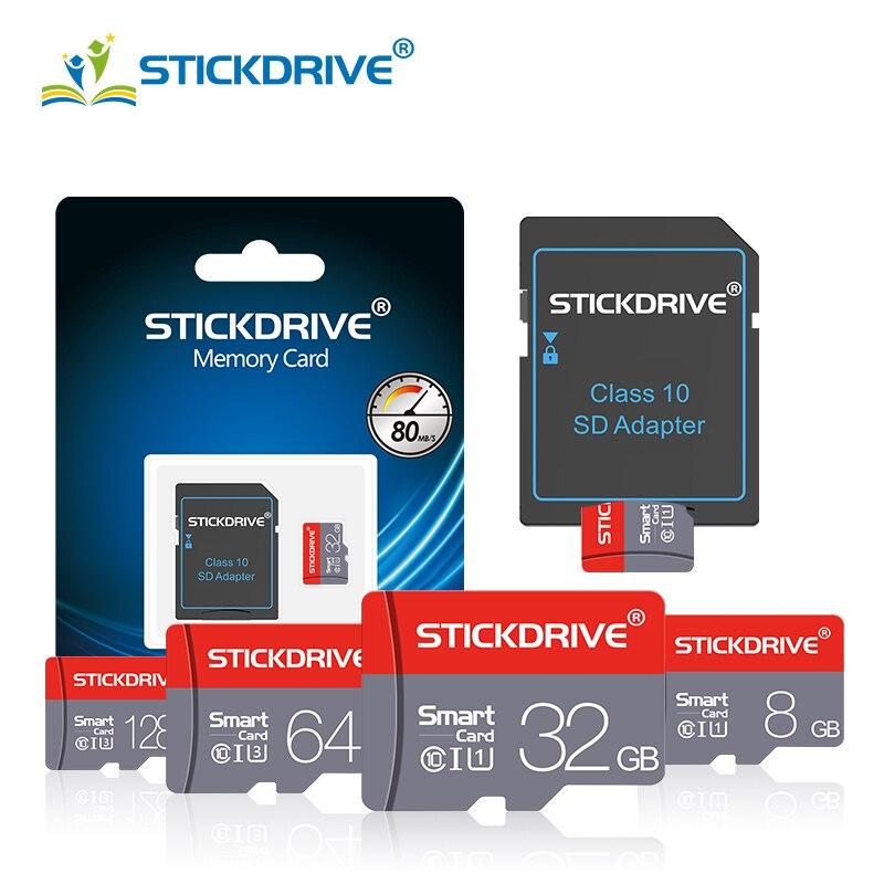 Yüksek kaliteli mikro SD hafıza kartı 64GB 32GB Microsd TF kart 4GB 8GB 16GB 128GB kalem sürücü sınıf 10 cartao de memoria Flash kartlar