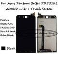 Completo preto 5.5 polegada display lcd + touch screen digitador assembléia para asus zenfone selfie zd551kl z00ud frete grátis