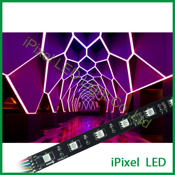 Factories In Shenzen Smart 24V DMX512 Addressable RGB LED Strip