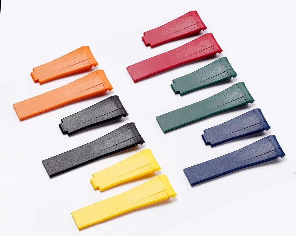 Haut grade qualité bracelet de montre en caoutchouc étanche bracelet en silicone bracelet bracelet montres band 20mm montre ceinture pour ROX