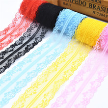 10 Yards Lace Ribbon Tape 40MM Wide Trim Fabric DIY Handicrafts Embroidered Net Cord For Sewing Decoration african lace fabric 10 meters lace ribbon tape 45mm wide trim fabric diy handicrafts embroidered net cord for sewing decoration african lace fabric