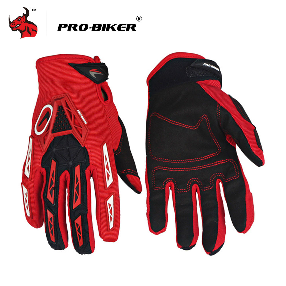 PRO-BIKER Motorcycle Gloves Luvas Breathable Knight MTB Bike Bicycle Gloves Motocross Off-Road Riding Gloves Moto Gloves pro biker motorcycle riding gloves breathable motocross off road racing moto full finger gloves with stainlesssteel injection