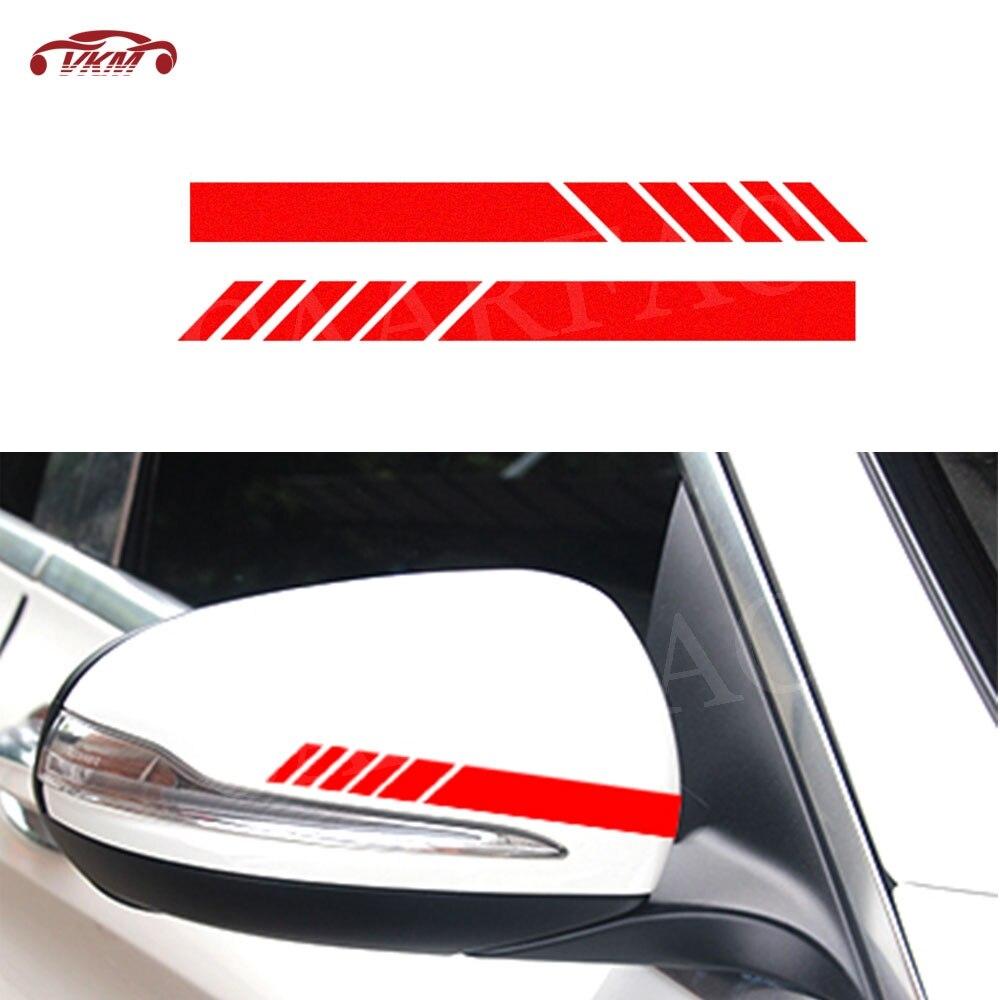 2X Rearview Mirrior Sticker Rear View Side Mirror Body Stripe Vinyl Sticker Decal DIY Trunk Decals For Benz Golf Universal Car